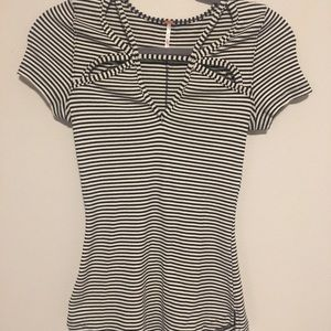 Free People striped T-shirt